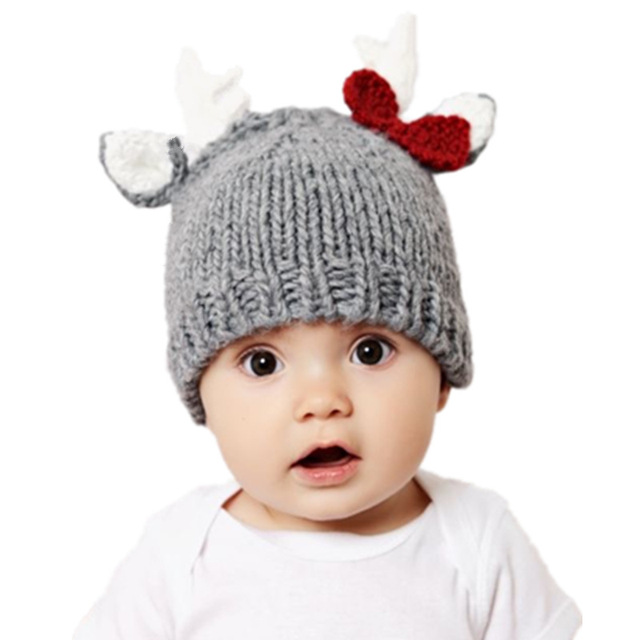 Hot Style Hand Hook Christmas Elk Baby Boys Hair Line Hat For Boys