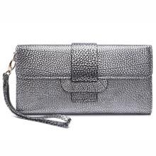 2016 Fashion Echtes Leder Litschistria Gold Silber Frauen Solide Tag Kupplung Schultertasche Messenger Bags Damen Ketten Hülle Tasche