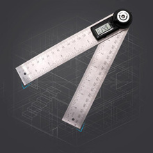 2 IN 1 Digital Ruler 360 degree 200mm Protractor Inclinometer Goniometer Level Measuring Tool Electronic