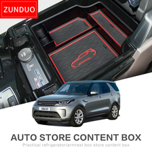 ZUNDUO CAR Armrest Box Storage for Land Rover Discovery LR5 2017 Interior Accessories Box Stowing Tidying ABS+PVC