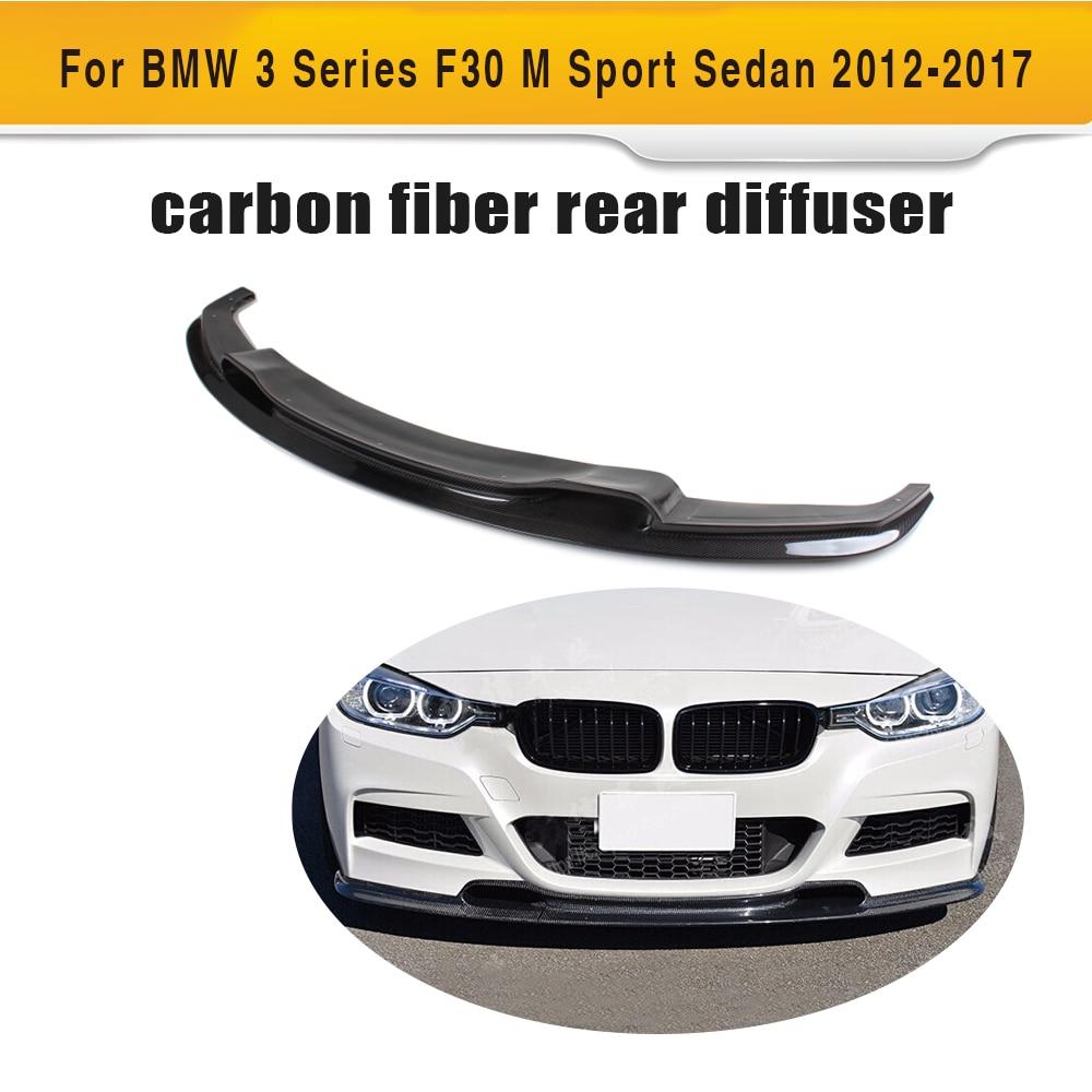 3 Series carbon fiber front lip bumper protector for BMW F30 M Sport Sedan 4 Door 2012-2016 320i 328i 335i 3D style Black FRP front bumper driving fog light foglamp for bmw f22 f30 f35 320i 328i 335i 3 series 2012 2015 left side oem 63177248911 3079 l