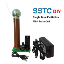 DIY Мини плазменный динамик с катушкой Тесла дуги громкий динамик музыка Тесла катушка беспроводной передачи тест SSTC