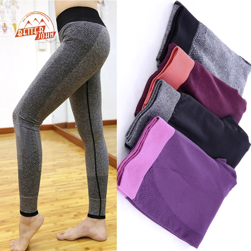 Daddy Chen Brand Women Tight Sport Wear Nice Leggings High Elastic Thin Sports Yoga Pants Fitness Running Long Trousers In Running Pants From Sports
