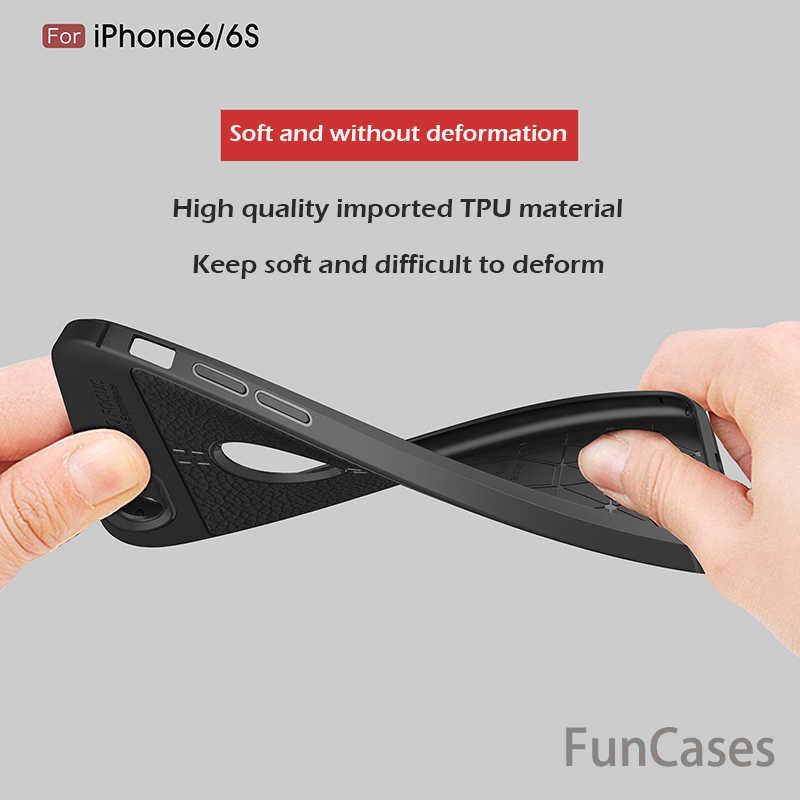 กรณีโทรศัพท์สำหรับiPhone 6กรณี6 Plusใหม่หรูหราบางเฉียบSoft TPUหนังกรณีการออกแบบสำหรับiPhone 7กรณี6 7พลัส5 5วินาทีปก