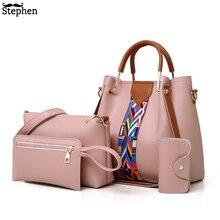 Fashion Women's Handbags 4 Pcs/set Composite Bags Handbag Wo