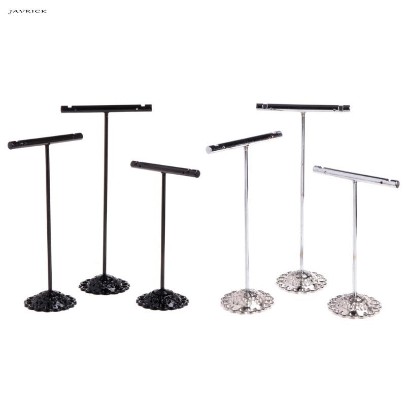 JAVRICK 3 Pcs Alloy Earrings Display T-Shape Stand Showcase Jewelry Organizer Holder NEW