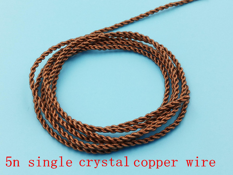DIY earphone wire 5n single crystal copper wire/silver plated wire ...
