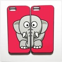 Best Friends Forever Cute Elephant Plastic Hard Cover Case For IPhone 4S 5S 5C 6 6PLUS
