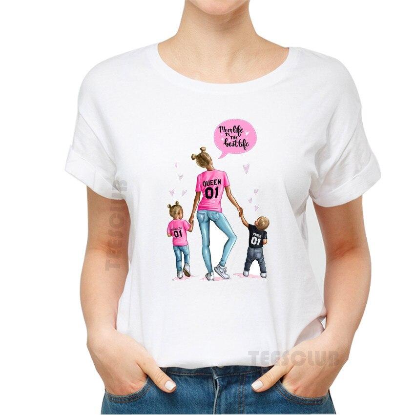 Menina do Menino Blusa da Caçoa T-shirt Teeshirts