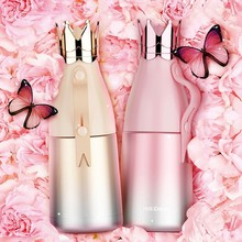 Creative Cute Crown Lid Stainless Steel Water Bottle Outdoor Travel Car Thermos Bottle For Water Bridemaid Gift Cup