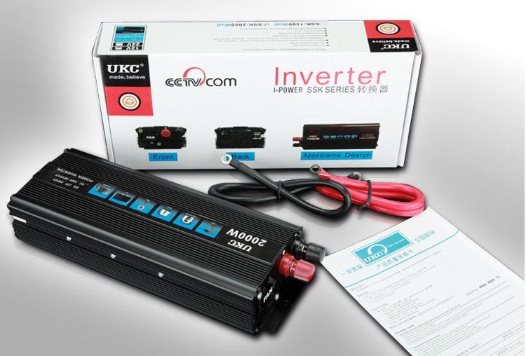 DC24V Inverter Converter 2KW Car Modified Sine Wave Power Inverter adapter DC 24V to AC 220 240V Converter + 5V USB