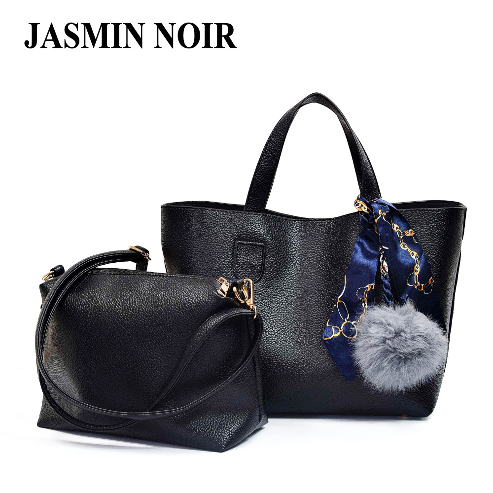 Women Handbag and Purse Scarf Top Handle Tote Bag with Fur Ball Designer Crossbody Bag for Ladies Casual Female Shoulder Bag