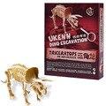 Triceratops Динозавров Модель Скелета Динозавров Археология Раскопки комплекты Buding Блоки Парк Юрского Периода Развивающие Игрушки