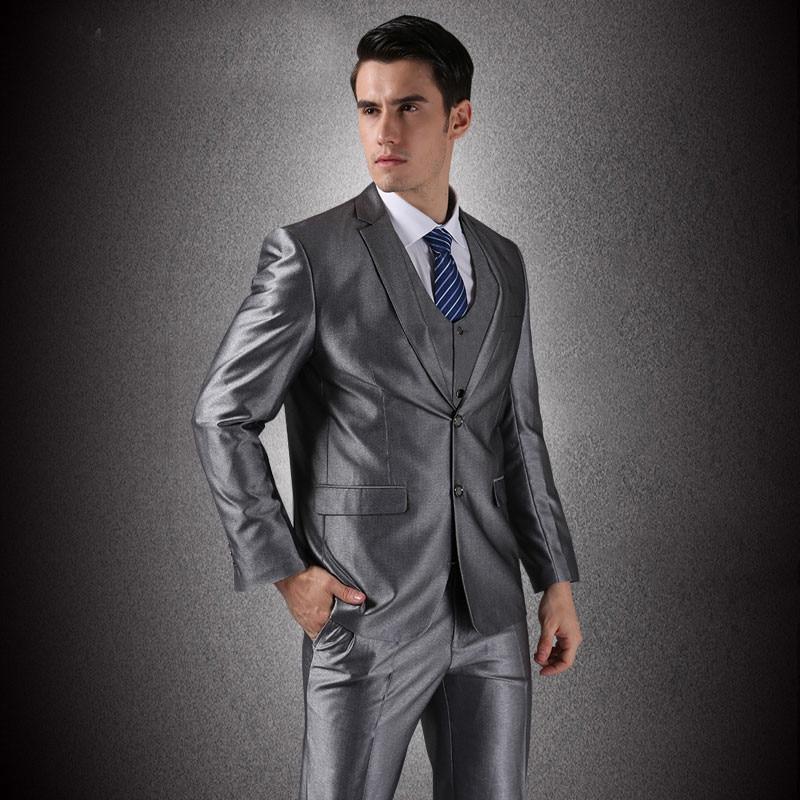 (Jope + vest + püksid) meeste äri ühe rinnaga peidetud peigmees - Meeste riided - Foto 1