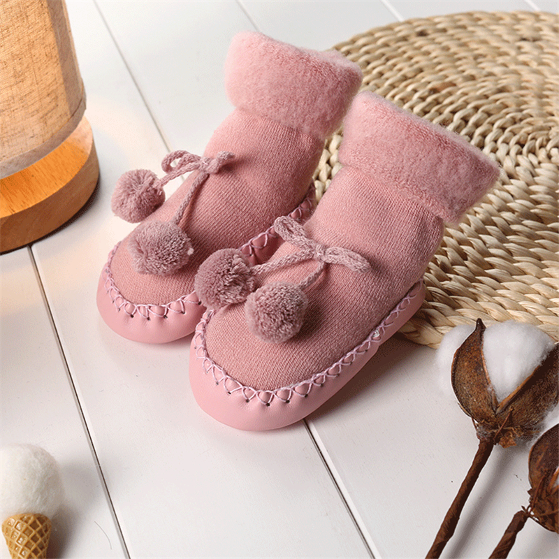 New Winter Baby Floor Socks Boy Girl Socks Kids Floor Socks Anti-Slip Baby Socks Thickened Warm Shoes For Baby Gift