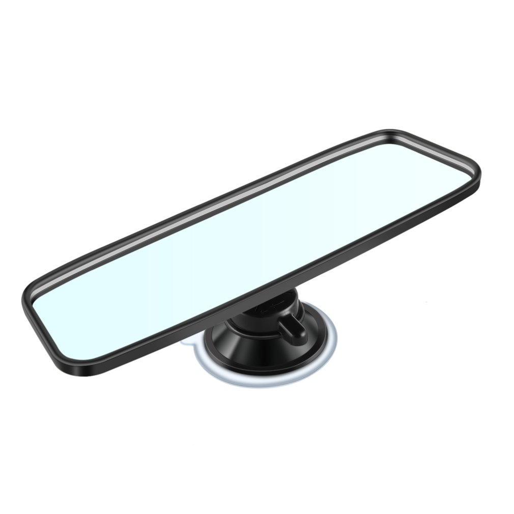 Universal Car Rear Mirror Wide-angle Rearview Mirror Auto Interior Rear View Mirror With PVC Sucker CZC-100 Color:black