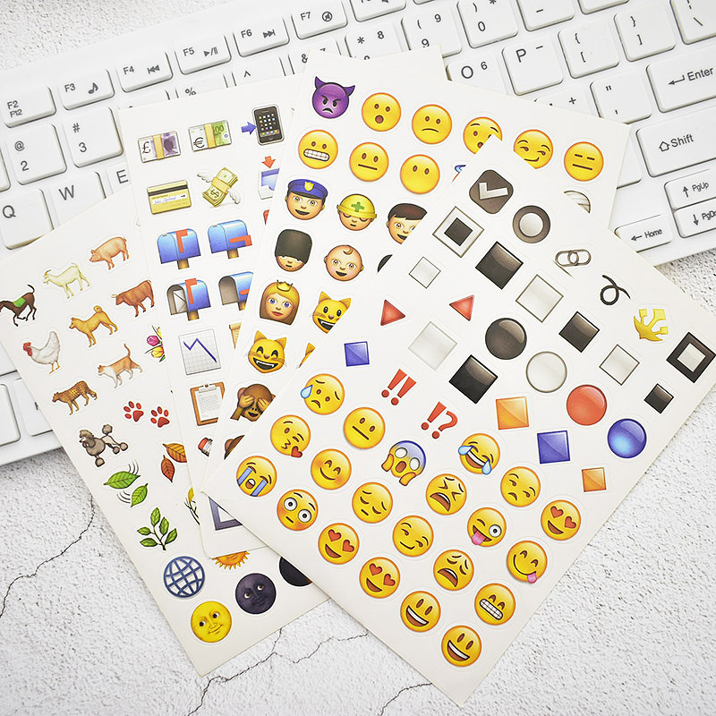 Korean Stationery 20 pcs/bag Apple Emoji Facial Expression Animals Stickers Stationery Smiley Face Stickers For Kids Gift