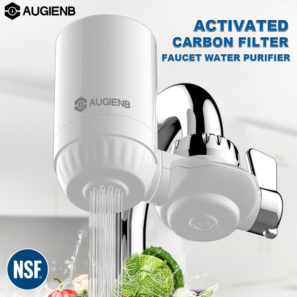 AUGIENB Kitchen Tap Faucet Water Filter Purifier - Activated Carbon Ceramic Cartridge - Reduce chlorine, odor, Contaminants