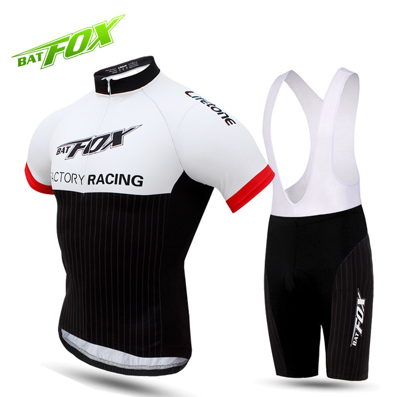 BATFOX MBT Mountain Bike Jersey Summer Short Sleeve Cycling Jersey Sets Man Breathable Sweat Quick Drying Bicycle Bike Clothing