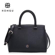 Hongu Light Luxury Genuine Leather Women Tote handbags Famous Brand Lady Shoulder Bags Versatile Simple Shell Bag designer louis