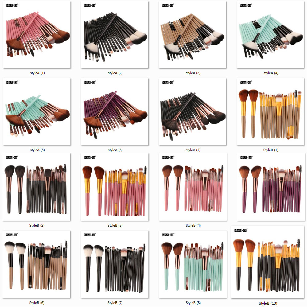 MAANGE 6 to 18Pcs Makeup Brush Kit for Eye Makeup and Lip Makeup including Blending of Foundation and Blush 5