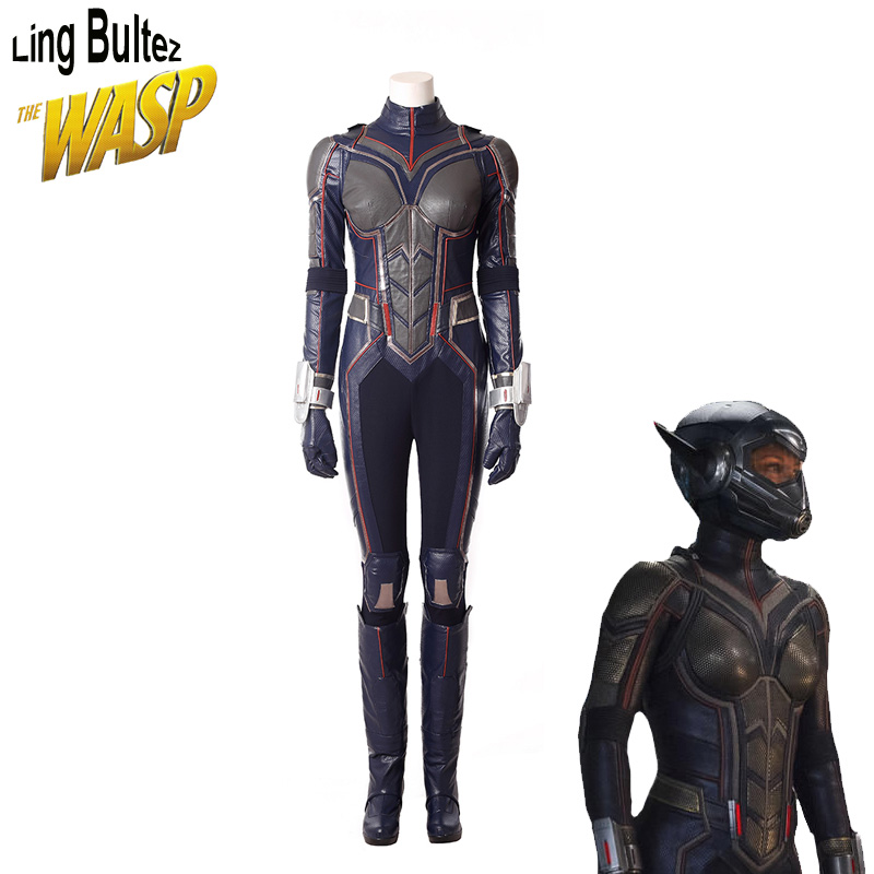 Ling Bultez High Quality Wasp Cosplay Costume New Antman Costume For Woman 2018 Wasp Costume For Party