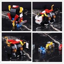 IN STOCK DECOOL 18002 455pcs Defender Of The Universe Brickheadz Voltron Beast King GoLion Robot Building Blocks Brick Toy 21311