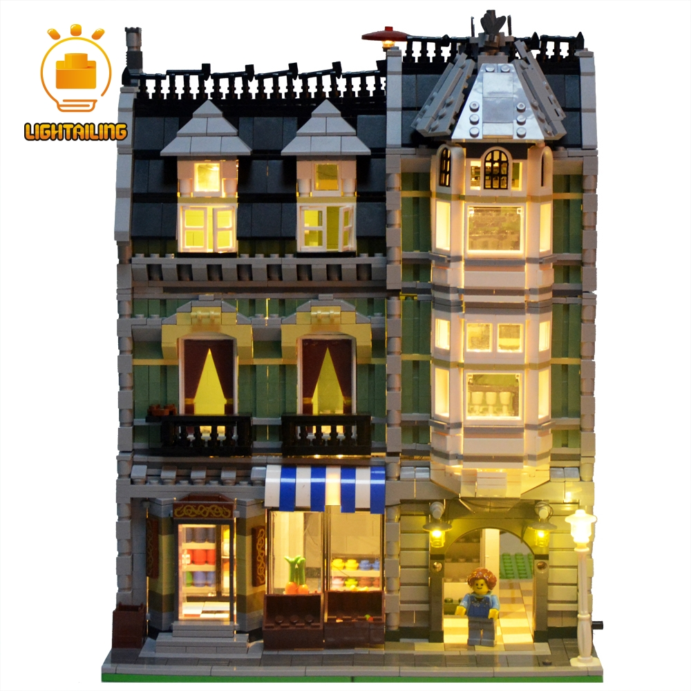 LIGHTAILING LED Light Up Kit For Creator Series Green Grocer Building Block Model Light Set Compatible With 10185 And 15008 updated led light up kit for lego 10185 and 15008 green grocer not include building blocks model only led light set