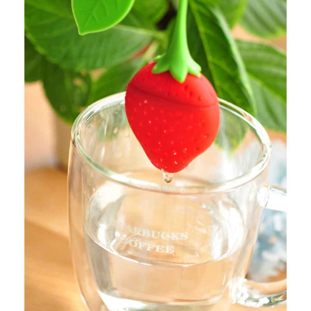 1pcs Silicone Strawberry Lemon Design Loose Tea Leaf Strainer Herbal Spice Infuser Filter Tools