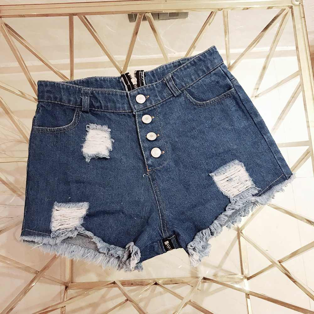 e51574f986 ... TASTIEN Denim Shorts Women High Waisted Sexy Shorts Summer Micro Mini  Jeans Casual Vintage Booty Zipper ...