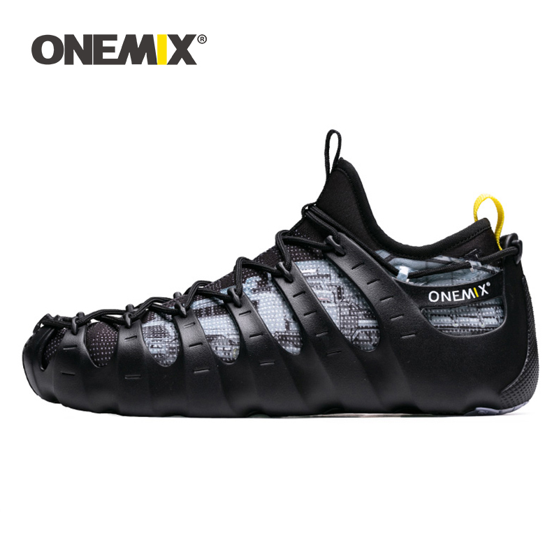 Onemix Fashion Soft Rome Running Shoes 1 Shoes 3 Wear Breathable Black Sneakers Two-Piece Yoga Shoes Summer Water Diving ShoesOnemix Fashion Soft Rome Running Shoes 1 Shoes 3 Wear Breathable Black Sneakers Two-Piece Yoga Shoes Summer Water Diving Shoes