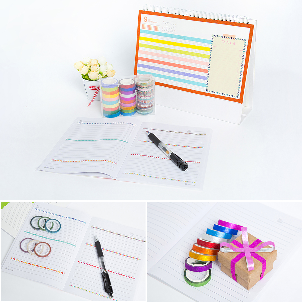 Aagu 44pcs Set Skinny Glitter Christmas Washi Tape Sbooking Decorative Adhesive Paper Box Package Masking In Office