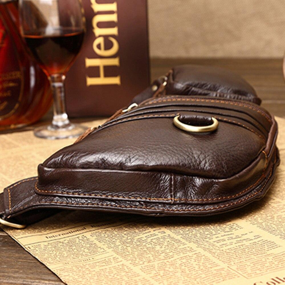 100% ægte læder ægte hud retro mænd skulderbags taske mærke - Håndtasker - Foto 4