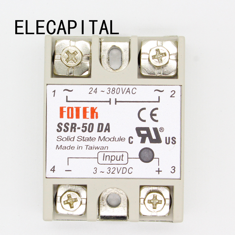 1PC SSR-50 DA SSR-50DA Manufacturer 50A SSR Relay input 3-32VDC output 24-380VAC Good Quality with Plastic Cover Wholesale Hot  цены