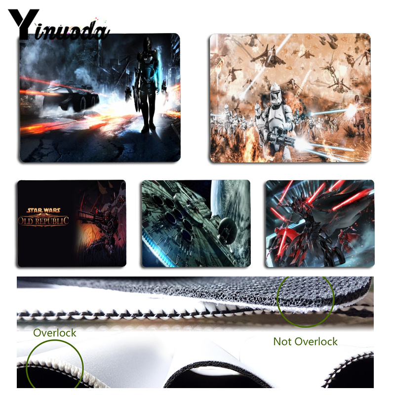 Yinuoda For StarWar Laptop Computer Mousepad Size for 18x22x0.2cm Gaming Mousepads image