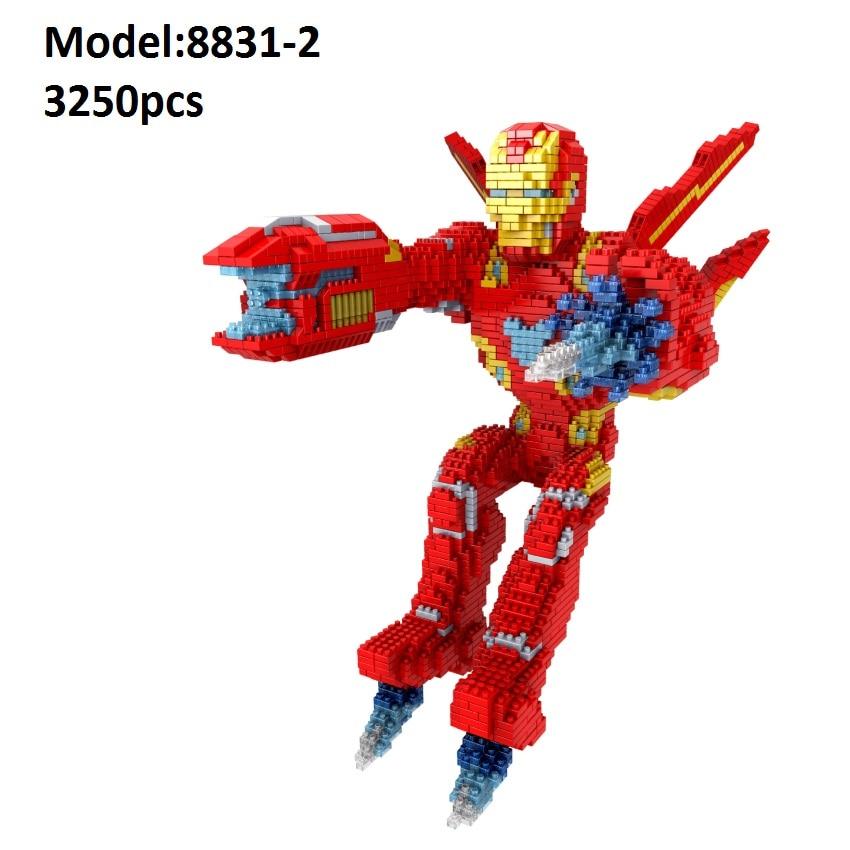 PZX Small Blocks Big size Super Hero Model Captain America 拼之星积木