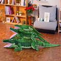 160cm Big Size Green Crocodile Plush Toy Simulation Crocodile Plush Toys Stuffed Animals Doll Kids Toy Cushion Pillow Toys Gifts