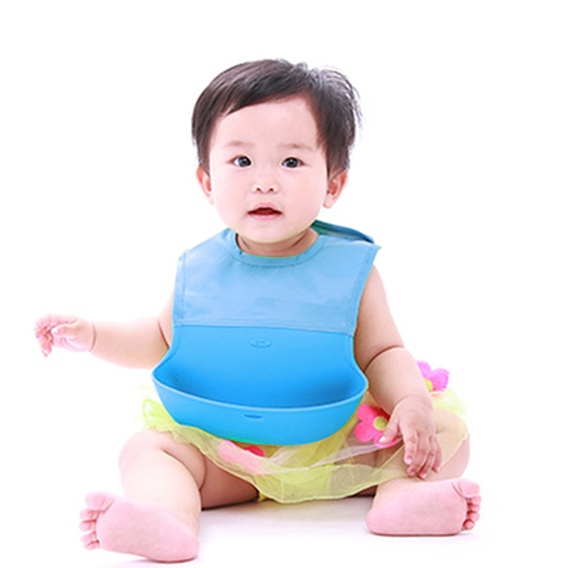 4 Colors Body Shell Silicone Baby Bibs Waterproof Three-Dimensional Food Pocket Bibs Bab ...