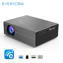 Everycom T400 Portable Projector Micro LED Cinema Video HD USB HDMI Projector for Home Theater Movie