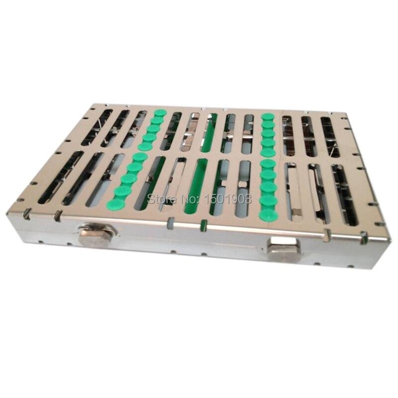 Стоматолошка опрема и додаци Стоматолошка кутија за дезинфекцију од нехрђајућег челика Кутија за дезинфекцију инструмената (10пцс инструментс лоадед)