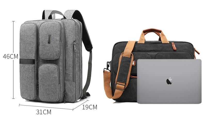 HTB13JCCavc3T1VjSZLeq6zZsVXaX 17.3 Vintage Briefcases Men Office Laptop Work Bag Man Convertible Business Multifunction Computer Handbag Travel Tote Bag XA229