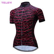 Teleyi negro mujeres ciclismo superior jersey verano ciclismo secado rápido ciclismo clothing xs-4xl
