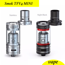 SMOK tfv4 mini micro tfv4 kit completo RTA RBA atomizador/vaporizador/clearomizer cigarrillo electrónico del tanque
