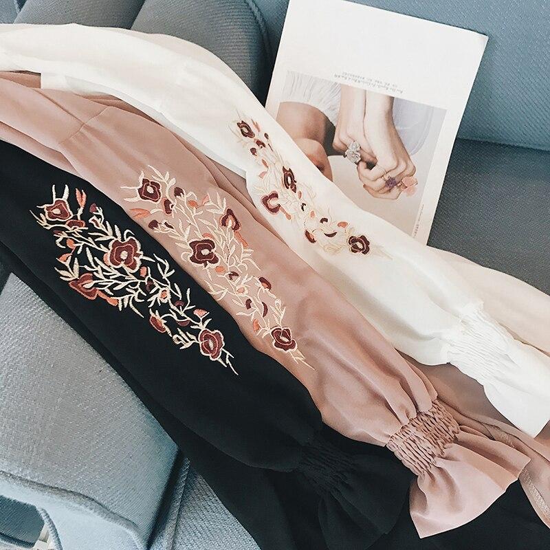HTB13JCSQFXXXXbHaXXXq6xXFXXXN - Summer Kimono Cardigan Women 2017 Floral Embroidery Chiffon Blouse