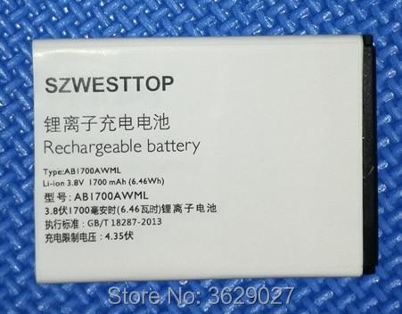 SZWESTTOP d'origine AB1700AWML batterie Pour philips S388 téléphone portable AB1700AWML Batterie pour XENIUM CTS388 téléphone intelligent