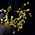 Warm White Patio Lights LED Lights String Solar Lights for Gardens Patio Lawn Porch Gate Yard String Lights Party with 100 LED