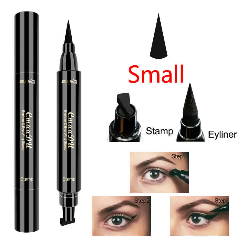 Black Double-ended Makeup Hot Stamps Wing Eyeliner Pencil New Make-Up Black Eyeliner Liquid Pencil Quick Drying WaterproofTSLM1