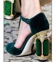Пикантные женские туфли лодочки на не сужающемся книзу высоком массивном каблуке с острым носком, замшевые модельные туфли с Т образным рем