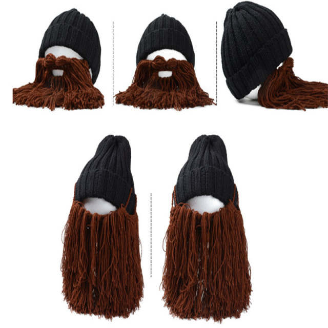 003820edc37 placeholder 2018 Novelty Knitted Autumn Winter Men Caps Viking Beanies  Beard Hats Funny Cool Hat For Party