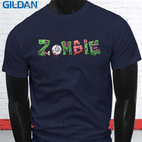 Summer Casual T Shirt Good Quality Gildan Zombie Dripping Attack O-Neck Short Sleeve Best Friend Shirts For Men